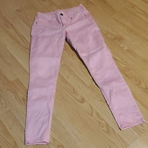 Acid washed bright pink Maurices pants